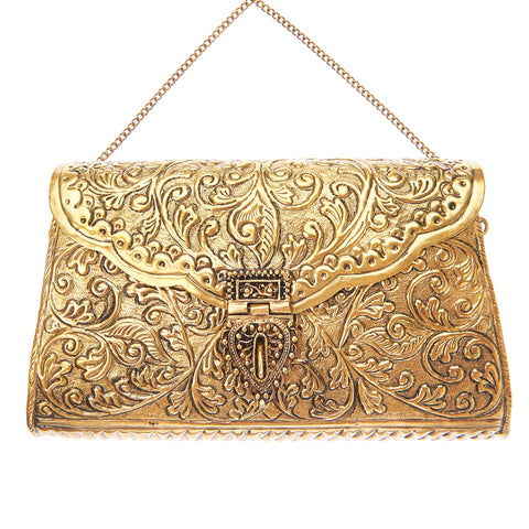 Kalinda Bag Gold-From St Xavier