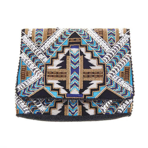 Kato Clutch Black Blue-From St Xavier