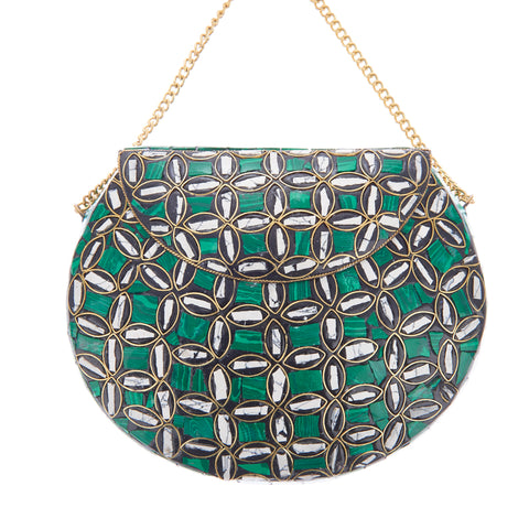Mackenzi Clutch Green-From St Xavier