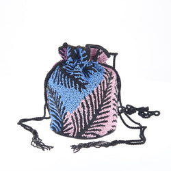 Palm Drawstring Blue Pink-From St Xavier