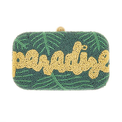 Paradise Box Clutch Green-From St Xavier