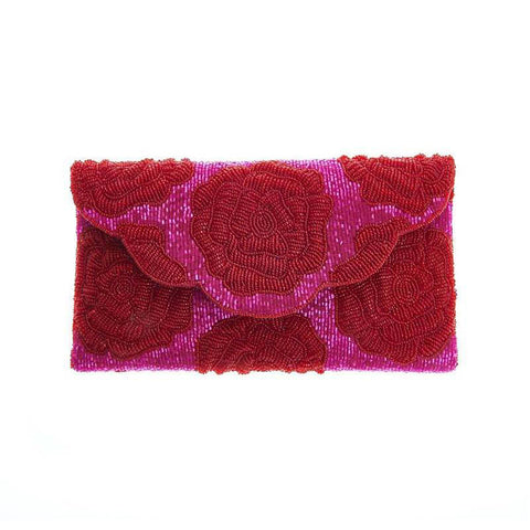 Rosie Clutch Dark Red-From St Xavier