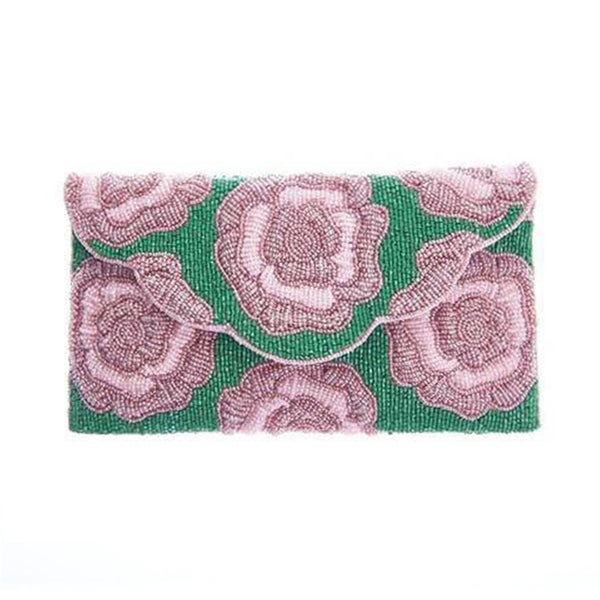 Rosie Clutch Pink Green-From St Xavier
