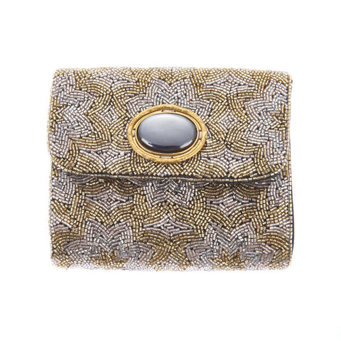 Sabrina Clutch Gold-From St Xavier
