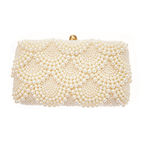 Solange Box Clutch Ivory-From St Xavier