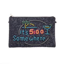 Somewhere Clutch Black-From St Xavier