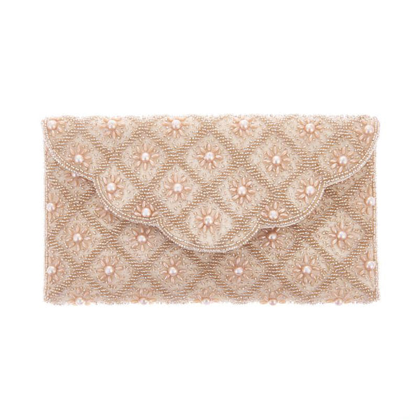 Sophia Clutch Champagne-From St Xavier