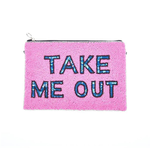Take Me Out Clutch Pink-From St Xavier