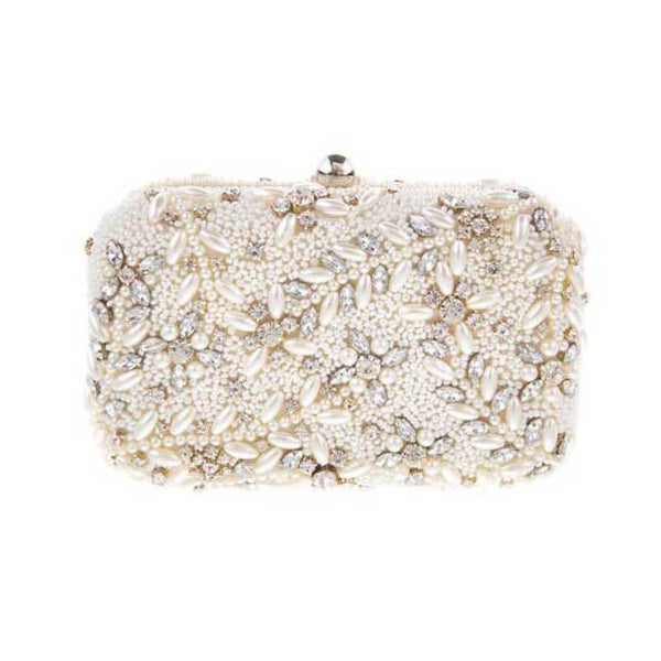 Talon Box Clutch Ivory-From St Xavier