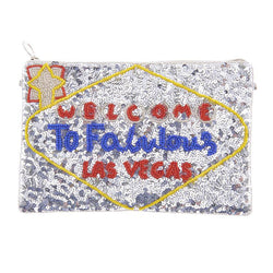 Vegas Clutch Silver-From St Xavier