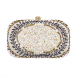 Victoria Box Clutch Ivory-From St Xavier