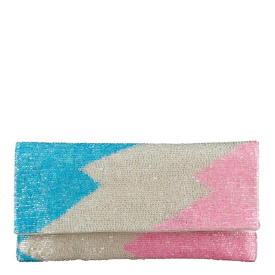 Zag Foldover Pink/Blue-From St Xavier