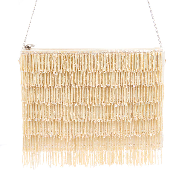 Skye Clutch Ivory-From St Xavier