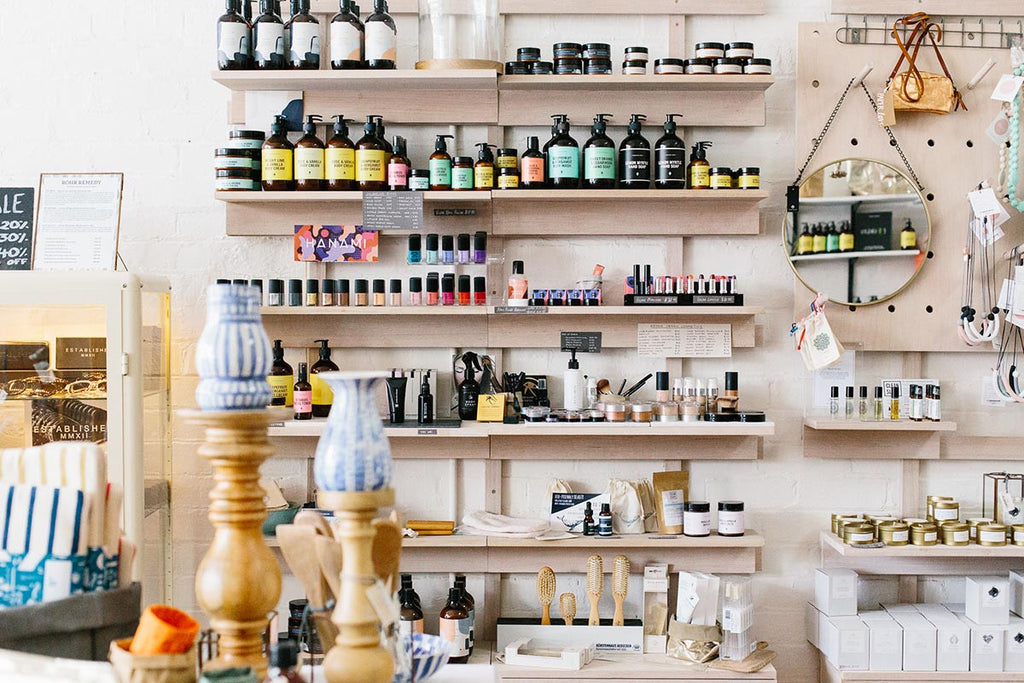 Natural beauty brands at Green Horse Northcote, photographed by Samee Lapham