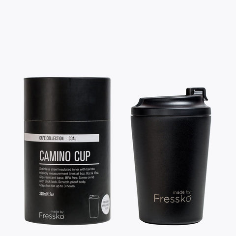 Bino Reusable Coffee Cup - Coal