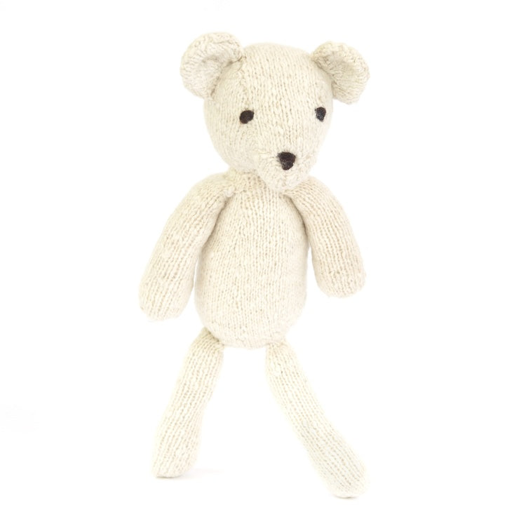 Wool Ditsy Toy Bear Cream Small
