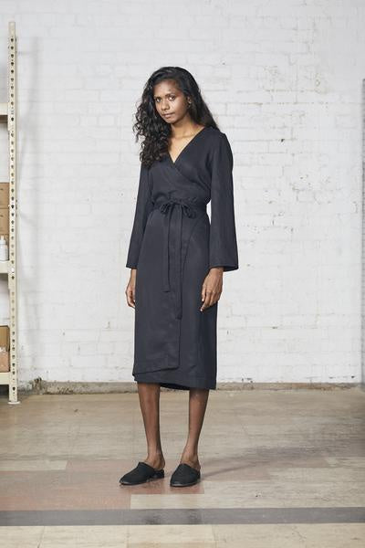 Wrap Dress, Black