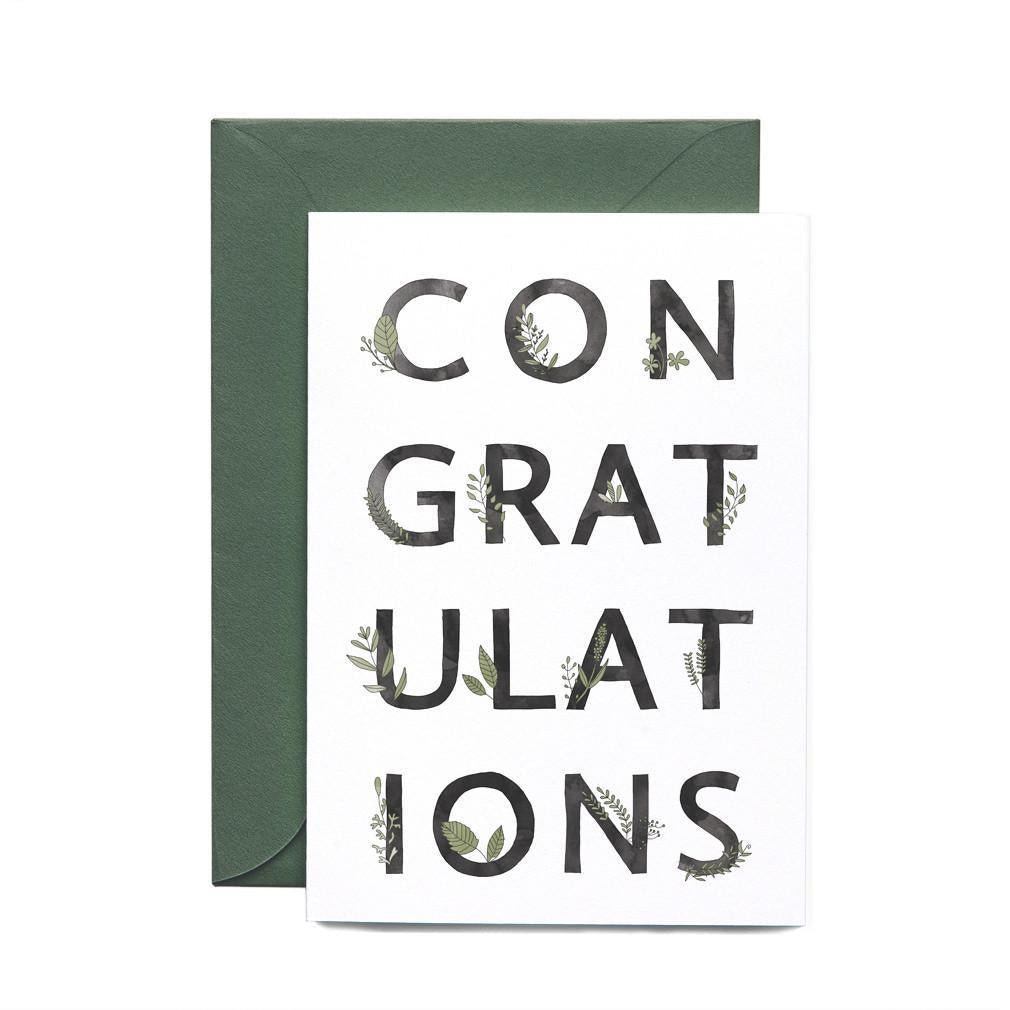 Congratulations Botanic Greeting Card