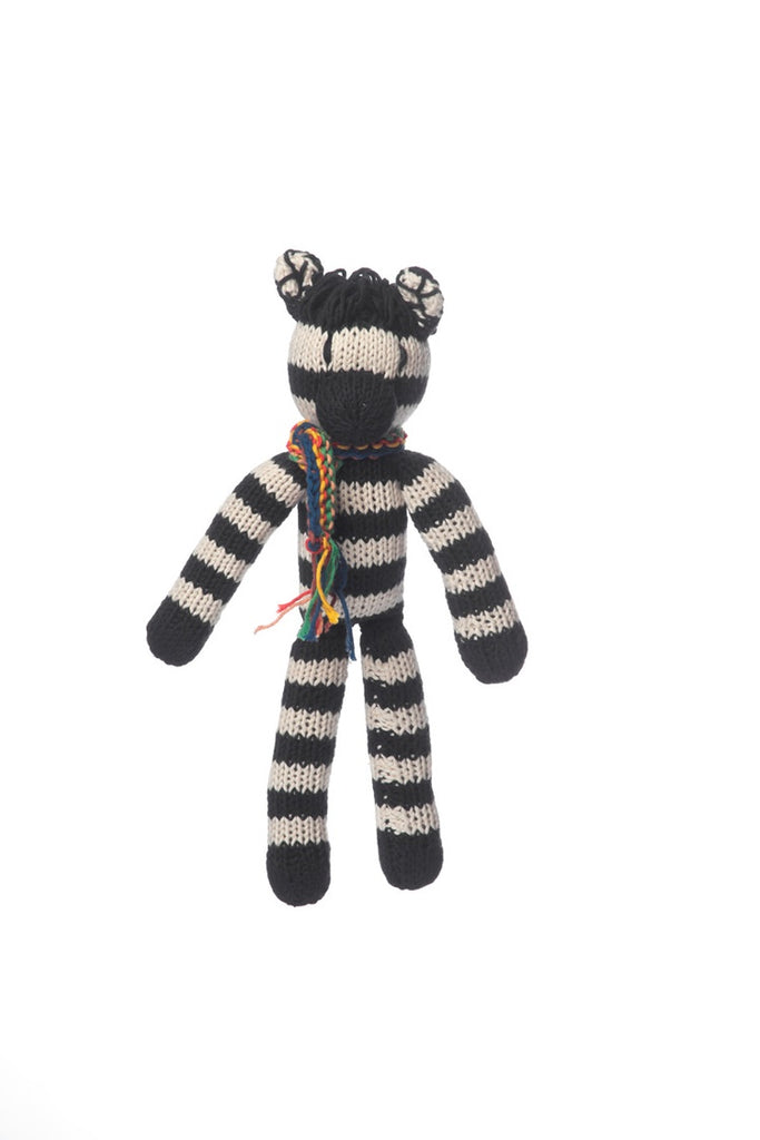 Organic Cotton Spider Toy Zebra - Medium