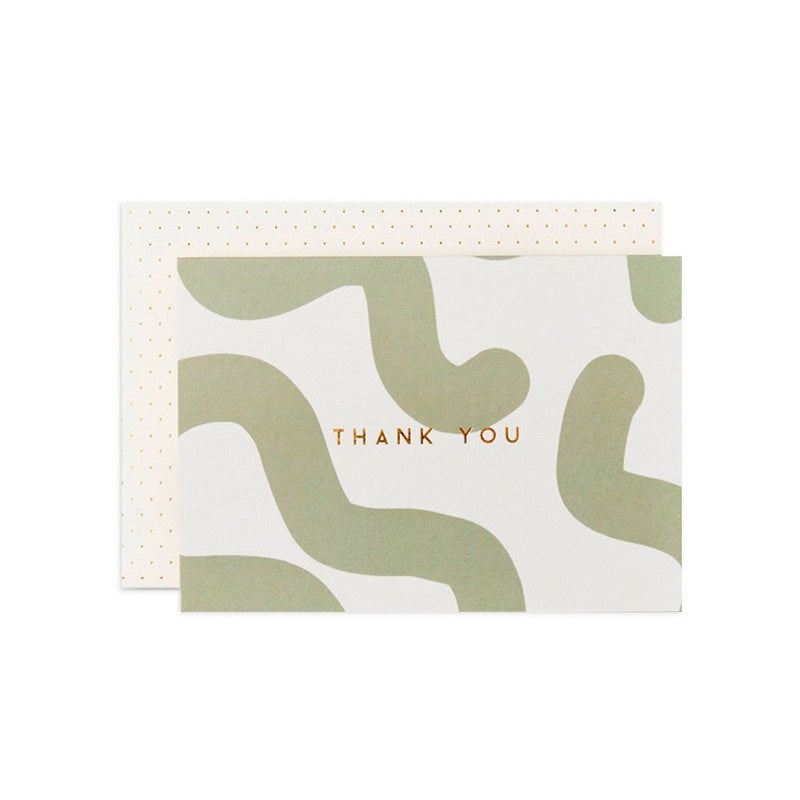 Thank You Greeting Card / Green Mallow