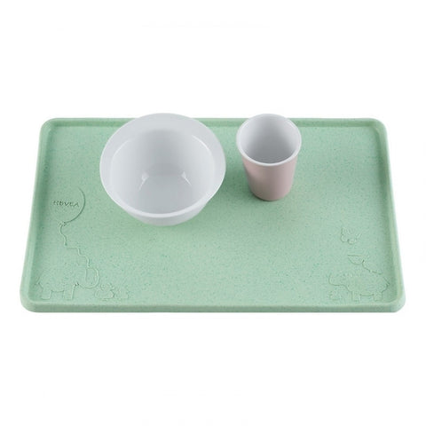Upcycled Natural Rubber Placemat - Mint Green