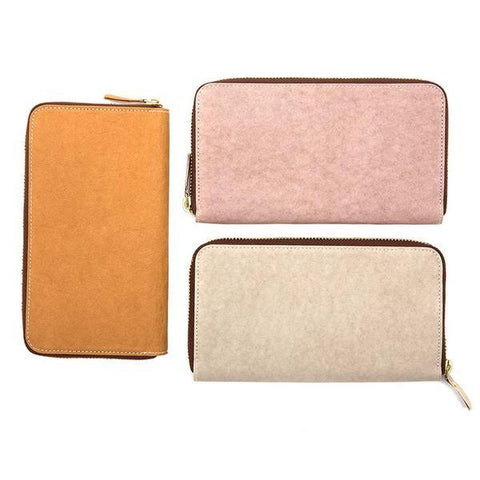 Vegetale Paper Zipped Wallet - Cashmere