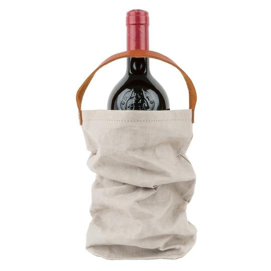 Paper Wine Bag with Handle - Grey