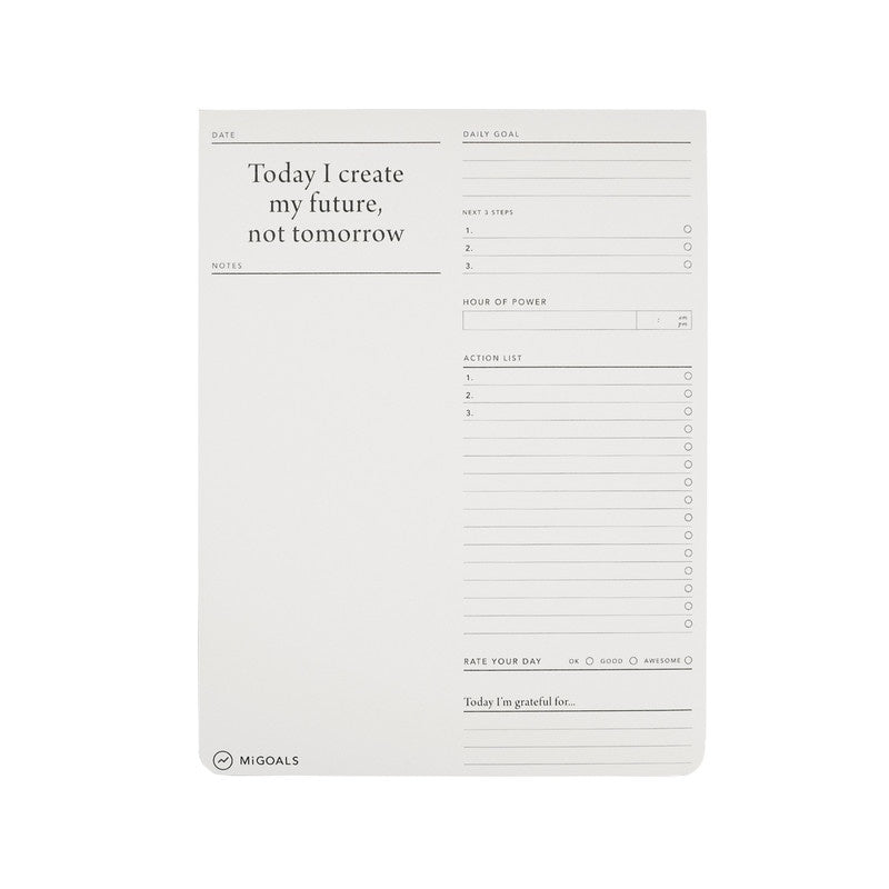 Goals Desk Pad - 18x24cm - White