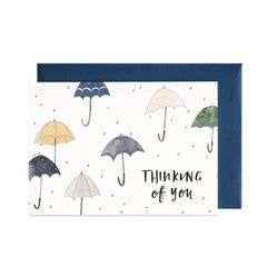 Thinking Of You Umbrella Greeting Card
