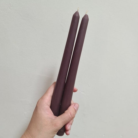 Taper Candlesticks (2 pack) - Eggplant