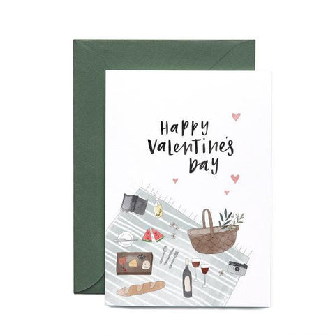 Valentines Day Picnic Greeting Card