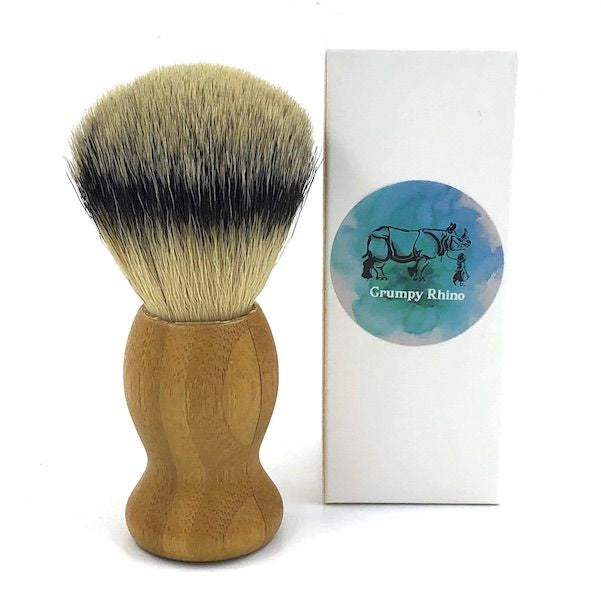 Synthetic Bristle Shaving Brush - Bamboo Handle