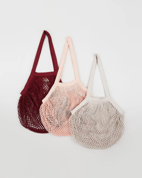 Organic Cotton String Bags - Maroon