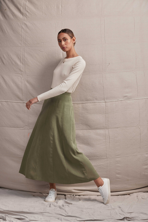 Apollonia Skirt - Moss