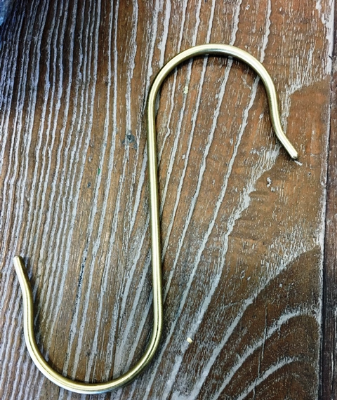 S hook - Brass