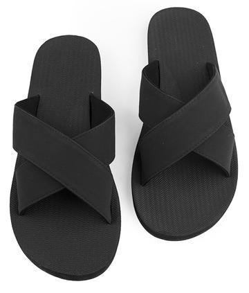 Cross Sandal - Black
