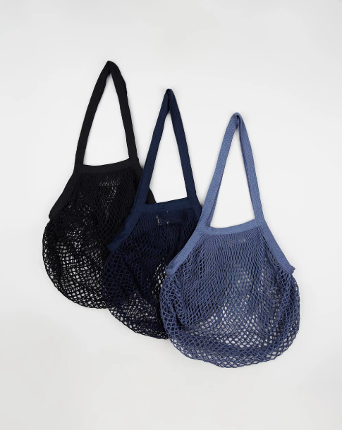 Organic Cotton String Bags - Black