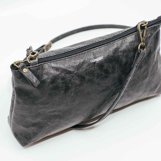 Vegetale Pochette Paper Bag - Black