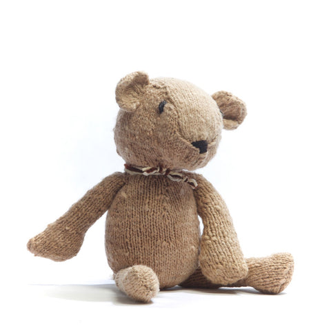 Wool Ditsy Toy Bear Latte - Small