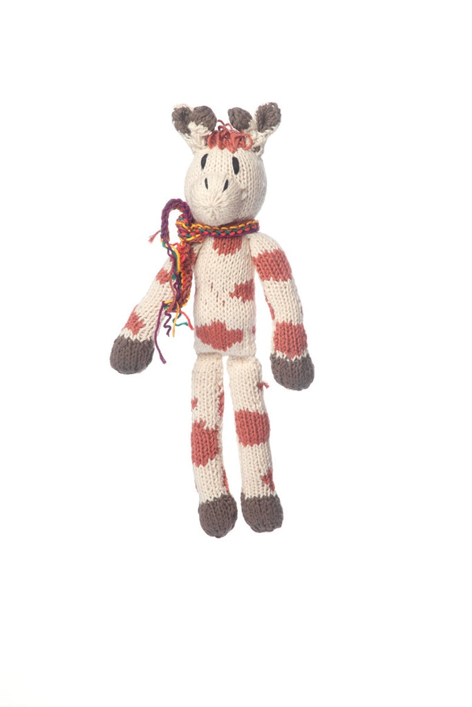 Organic Cotton Spider Toy - Giraffe - Small