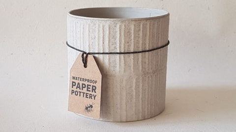 Cabarita Paper Pot - Whitewash