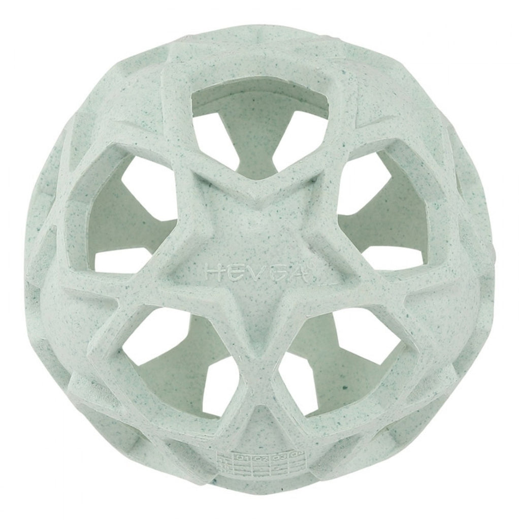 Upcycled Natural Rubber Star Ball - Mint Green