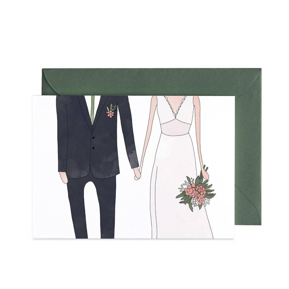 Wedding Man & Woman Greeting Card