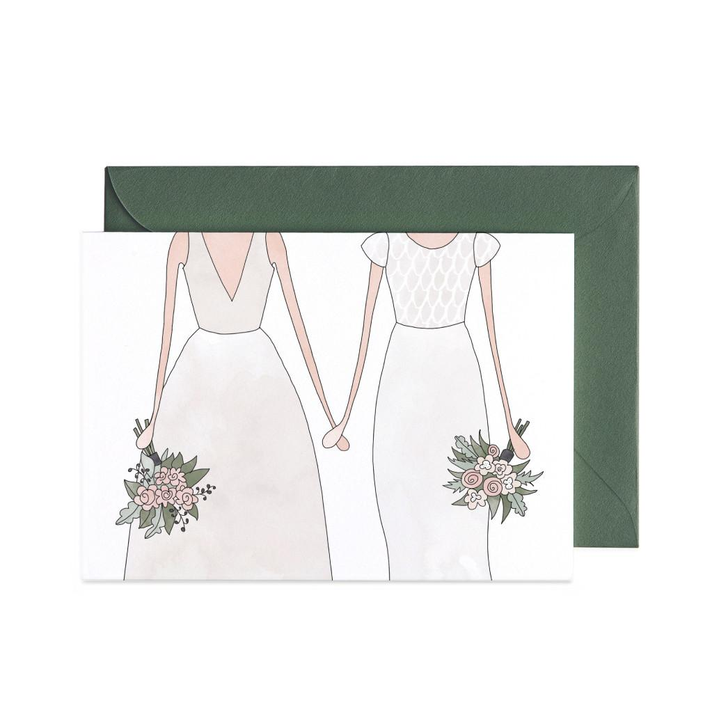 Wedding Woman & Woman Greeting Card