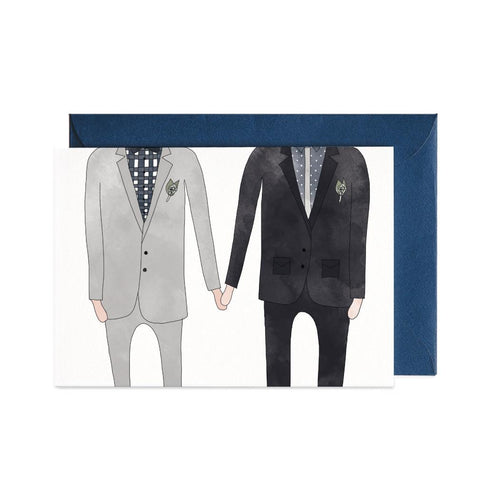 Wedding Man & Man Greeting Card