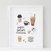 Coffee Solves Everything Print - A4