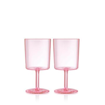 Wine Glass Set - Pink