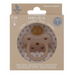 Coloured Pacifier - Orthodontic Teat - Fudge