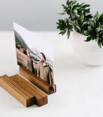 Rectangle Timber Photo Stand - Small - Dark Timber