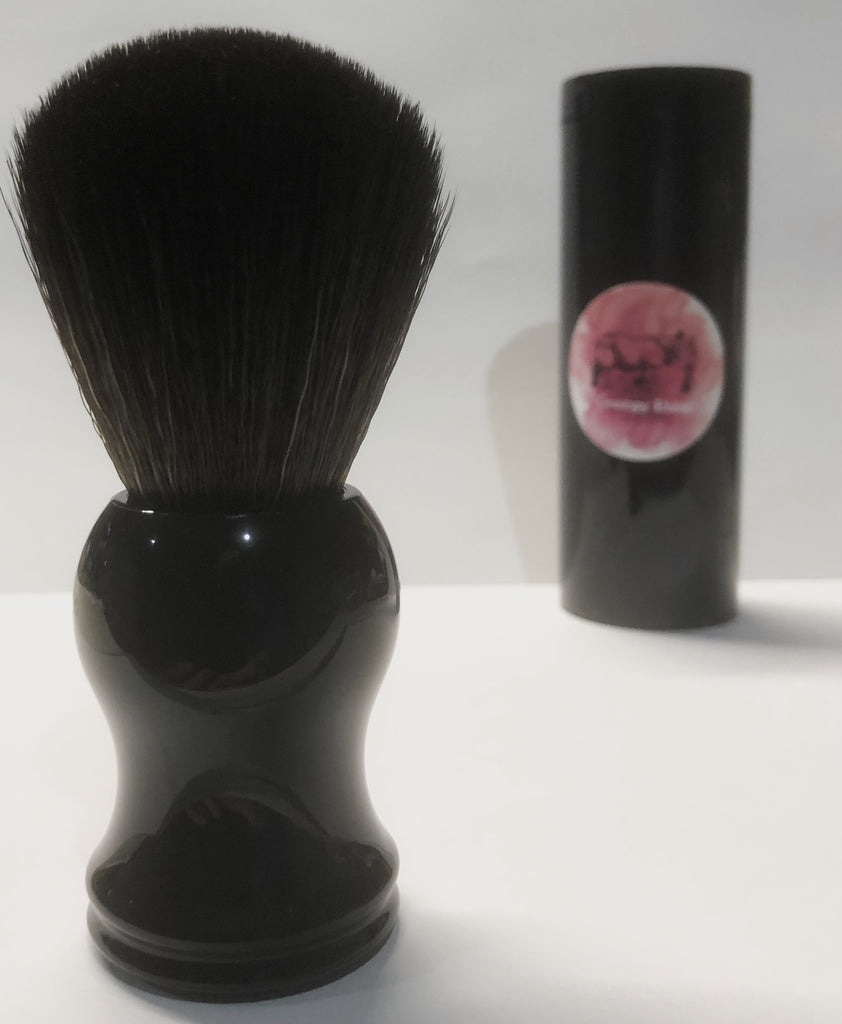 Synthetic Bristle Shaving Brush - Black Resin Handle